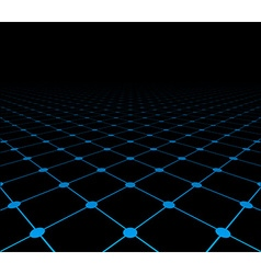 Perspective grid dark surface vector