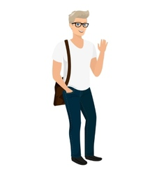 Handsome blond guy isolated vector