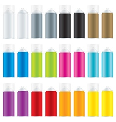 Paint spray cans vector