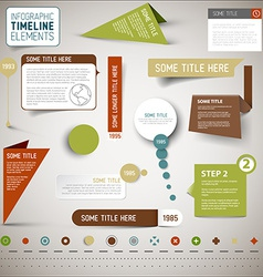 Infographic timeline elements template vector