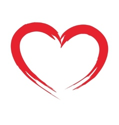 Heart drawn with a brush for design vector