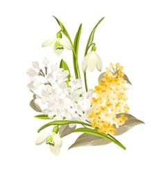 Delicate bouquet vector