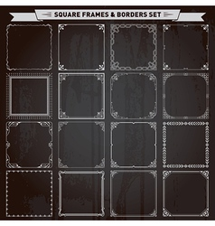 Square frames and borders vector