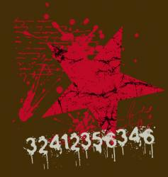 Star number grunge vector