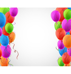 Celebrate background with colorful balloons vector