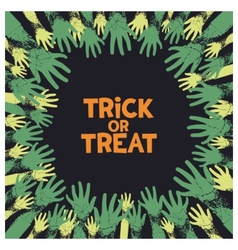 Trick or treat card design vector