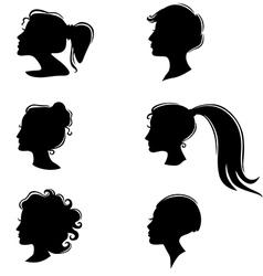 Womans profile vector