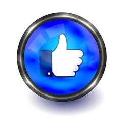 Facebook like logo vector