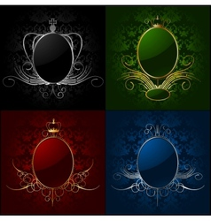 Set royal backgrounds with frame vector