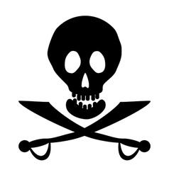 Piracy icon vector