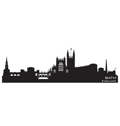 Bath england skyline detailed silhouette vector