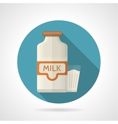 Flat color icon for dairy vector