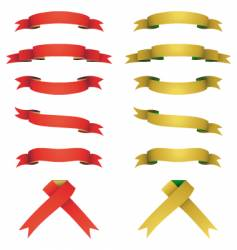 Red and yellow banners set vector
