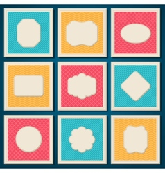 Vintage patterned cards templates set vector