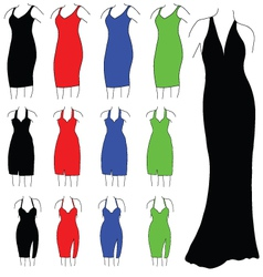 Womens formal dresses vector