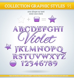 Violet graphic styles for design use for decor vector