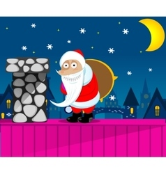 Santa claus new year eve vector