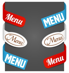 Left and right side signs - menu vector
