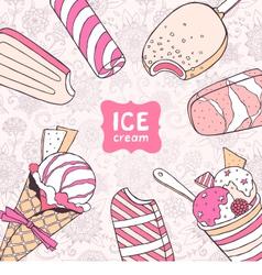 Ice cream card vector