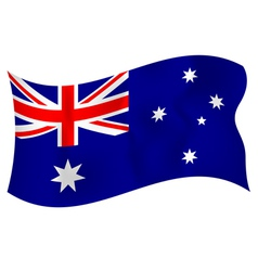 Flag of australia waving on a white background vector