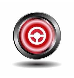 Steering wheel icon isolated vector