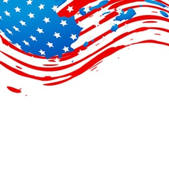 Creative american flag vector