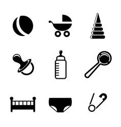 Baby and childish icons vector