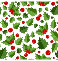 Abstract beauty christmas berry seamless pattern vector