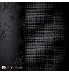 Realistic dark carbon background vector