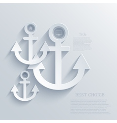 Modern anchor background eps 10 vector