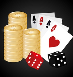 Casino design vector