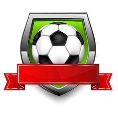 Soccer ball shield vector