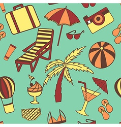Travel touristic seamless pattern for fabric vector