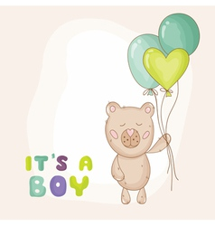 Cute baby bear background vector