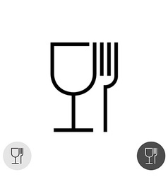 Fork and glass vector