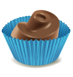Chocolates in blue cup vector