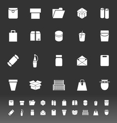 Package icons on gray background vector
