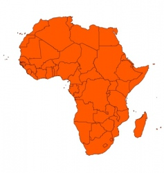 Africa and islands vector