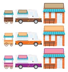 Trucks shops vector