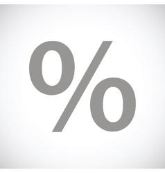 Percent black icon vector