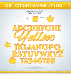 Yellow graphic styles for design use for decor vector