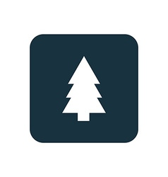 Fir-tree icon rounded squares button vector
