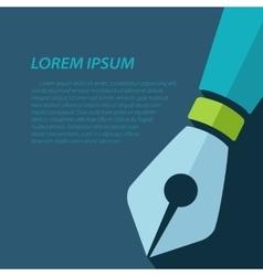 Fountain pen icon eps10 vector