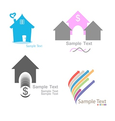 Set home logo vector