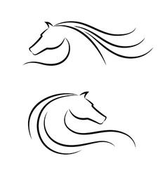 Horse head emblem vector