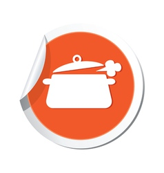 Pan symbol orange tag vector