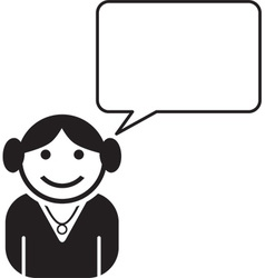 Person talking icon vector