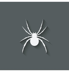Spider design element vector