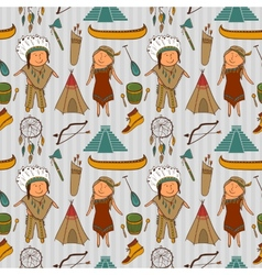 Native american indian culture seamless pattern vector