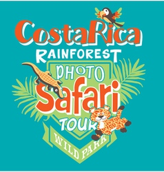 Costa rica photo safari tour vector